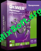 Антивирус Dr.Web. Продление лицензии для Windows / Mac OS X / Linux