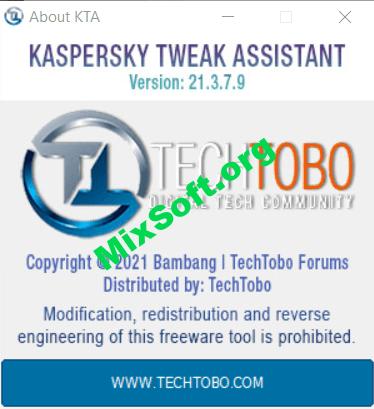 Kaspersky Tweak Assistant (KTA) v21.7.24.0 — Скачать бесплатно